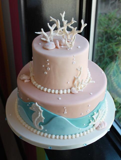 Coral Beach Cake
