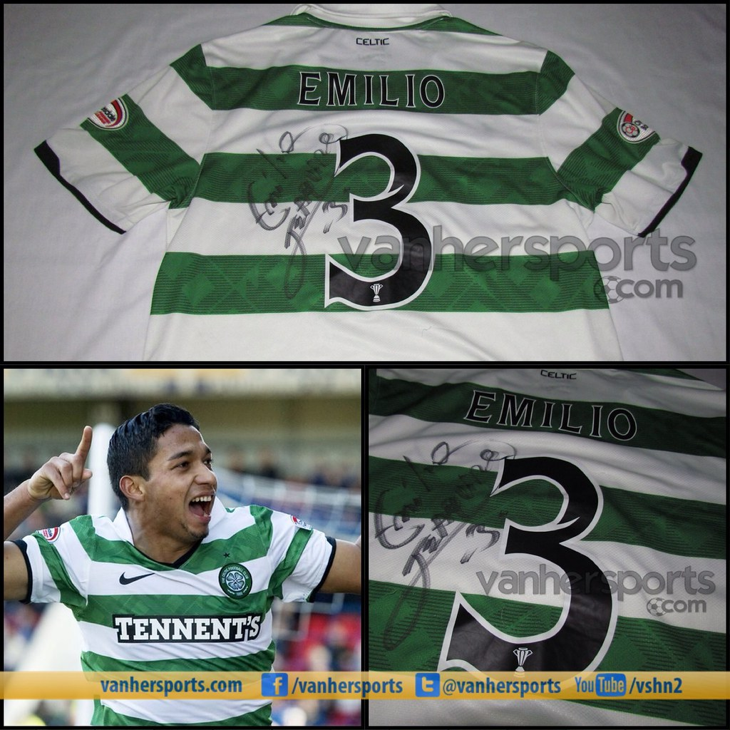 Camisa Celtic FC 11/12 Autografiada por Emilio Izaguirre
