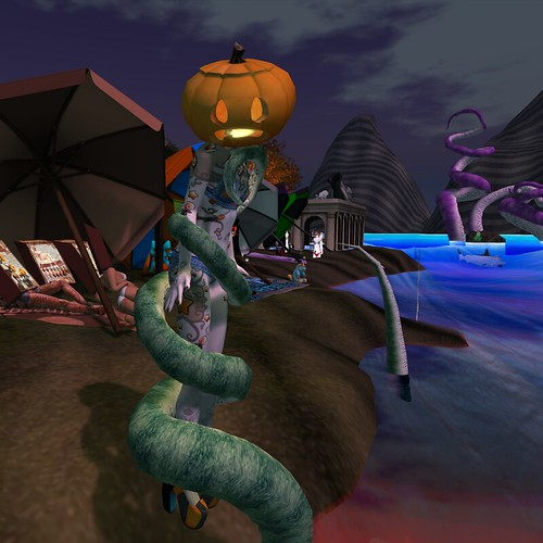 pumpkinhead and yes i'm having too much fun with tentacles