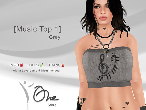 Music Top 1 Grey