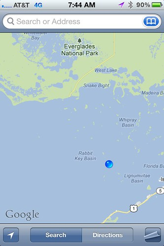 Location Coordinates in Florida Bay