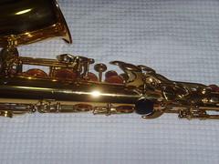reed instrument, baritone saxophone, brass instrument, wind instrument,