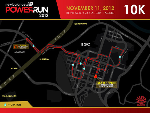 Low_NB Power Run 2012 10K Race Route