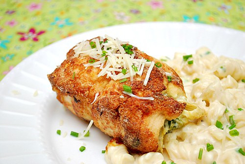 Spinach & Artichoke Stuffed Chicken