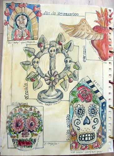from my sketchbook ~ dia de los muertos
