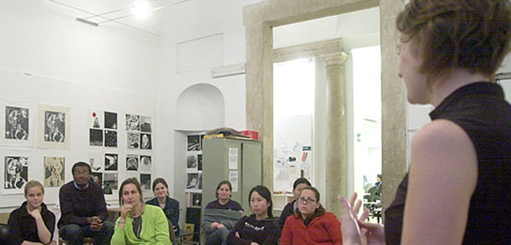 A 2011 art studio in the Palazzo Lazzaroni.   photo / provided