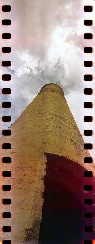 Abandoned smoke stack