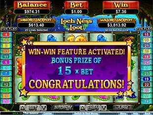 Loch Ness Loot Win-Win Feature