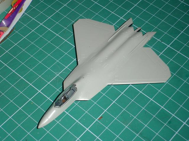 F-22 raptor Trumpeter 1:144 Making of 1