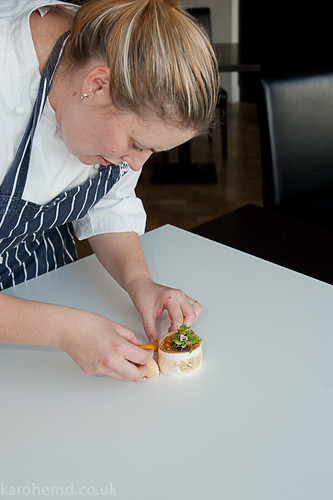 Plating the meringue