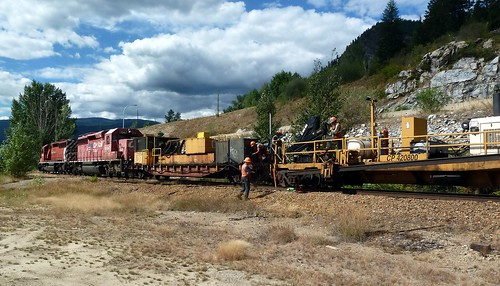 CPR CWR Work Train at Brilliant BC