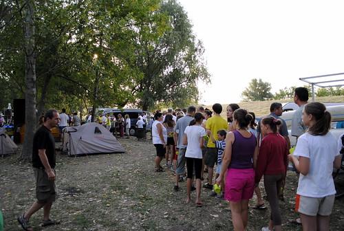 Tiszavölgy Kalandtúra - Utolsó sorbaállás a reggeliért