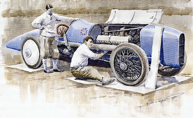 1924 Campbell Sunbeam Bluebird by Yuriy Shevchuk