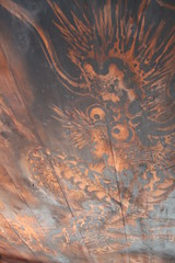 天井の龍の絵