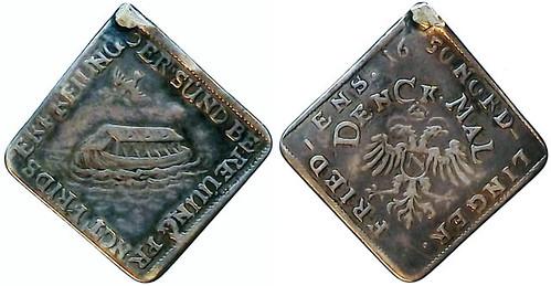 1650. Klippe Silver Medal Noah's Ark