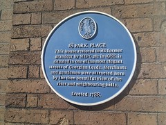 Photo of 18 Park Place blue plaque
