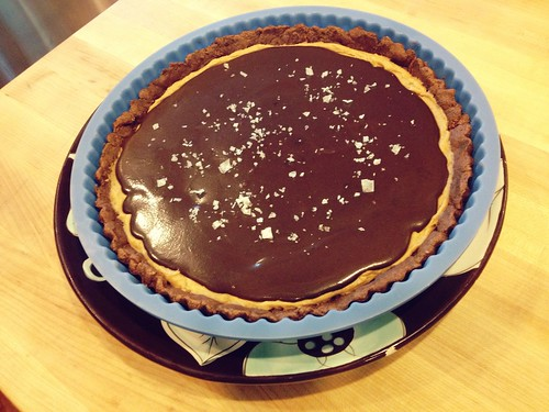 Salted, dark chocolate, giant peanut butter cup