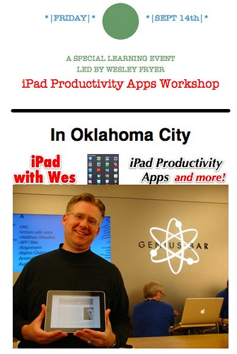 iPad with Wes: September 14, 2012 (Oklahoma City)