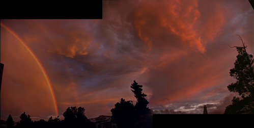 Double Rainbow Sunset HDR Panorama 2