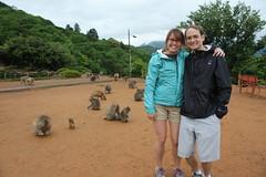 Us in Iwatayama Monkey Park