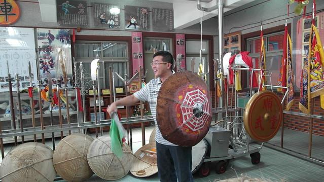 四湖國術文化館(蘇磨師傅紀念館):蘇國瓏先生親自示範防禦與攻擊的完整招式
