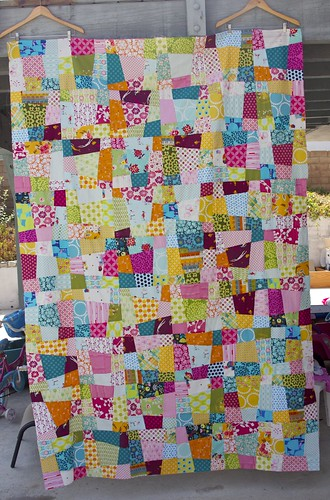 Crazy Nine Patch Quilt