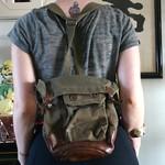 FKA (Försvarsväsendets kemiska anstalt) 1940s Swedish army bag from tag sale in Roslyn