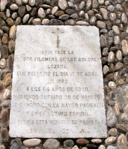 Lápidas del Antiguo Monasterio Santa Paula de Religiosas Jerónimas