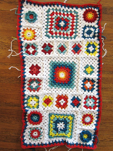 Granny Square Sampler Afghan -  Week 17