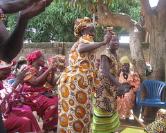 A group of women in rural West Africa participate in a traditional ceremony to celebrate a polygamist marriage. Credit: Fatuma Camara/IPS