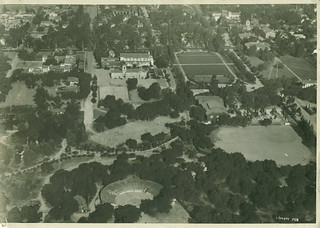 1928 aerial shot of Pomona College