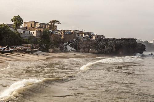 ocean travel sea beach pier fisherman ghana jamestown accra