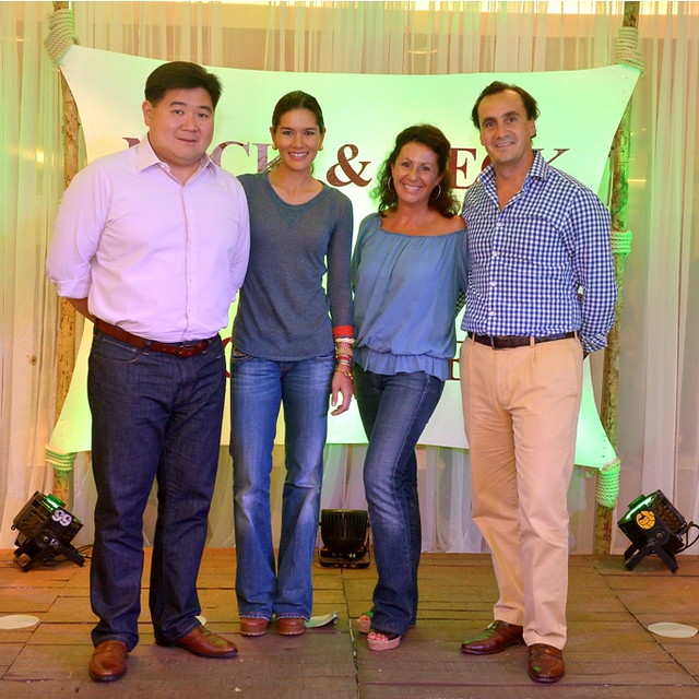 Rustan's Executive Vice President Anton Huang and wife Nina with Maria & Eudardo Zamacola