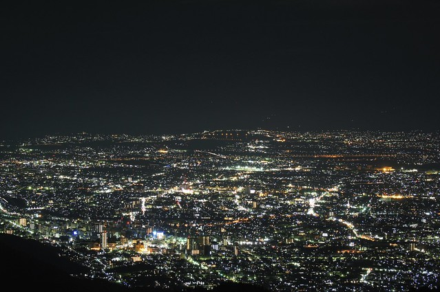 太良峠から甲府市 Kofu City from Tara-toge Pass