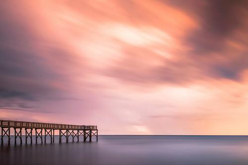 longexposure sunset bw storm reflection beach evening pier twilight florida goldenhour d800 neutraldensityfilter nikond800 andrewvernon nikon1735mf28