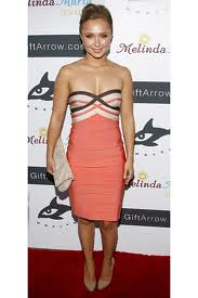 Hayden Panettiere Bandage Dress Herve Leger Celebrity Style Women's Fashion