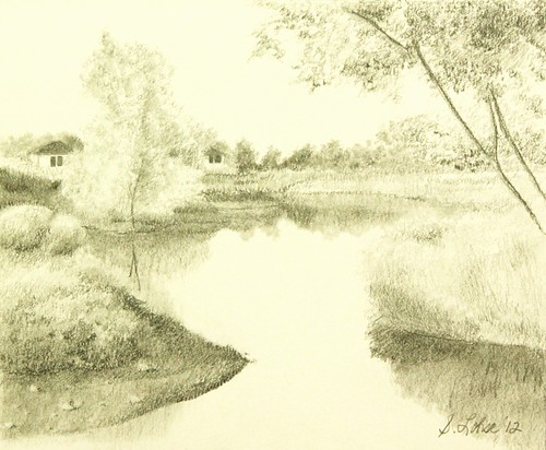 North of the Boulevard, graphite