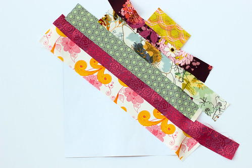 Paper Pieced Diagonal Stripes by Jeni Baker