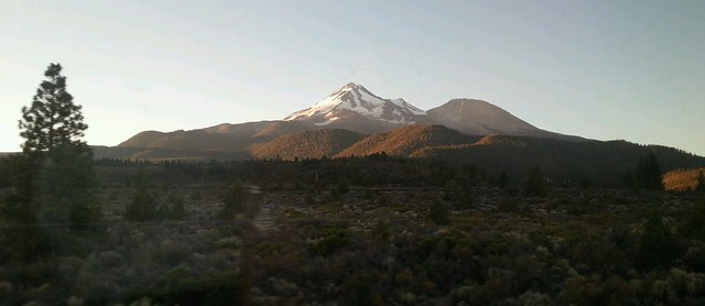 Waking up to view from Amtrak Coast Starlight train