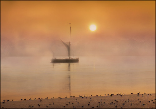 Thames Barge at sunrise
