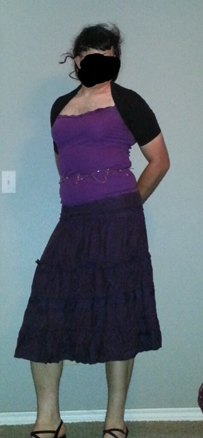 Purple top and skirt better front