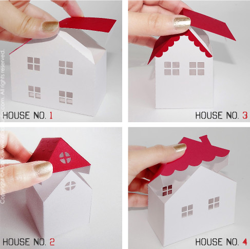 3D houses - boxes SVG, DXF, PDF cutting files | Flickr - Photo Sharing ...