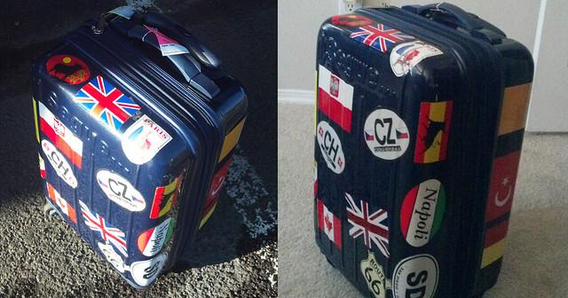 The Well Stickered Suitcase,Travel Around the World
