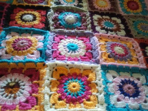 Pastillas tejidas a crochet para colchas imagui - Mantas con fotos ...