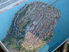 bird's-eye view, artificial island, aerial photography, waterway,
