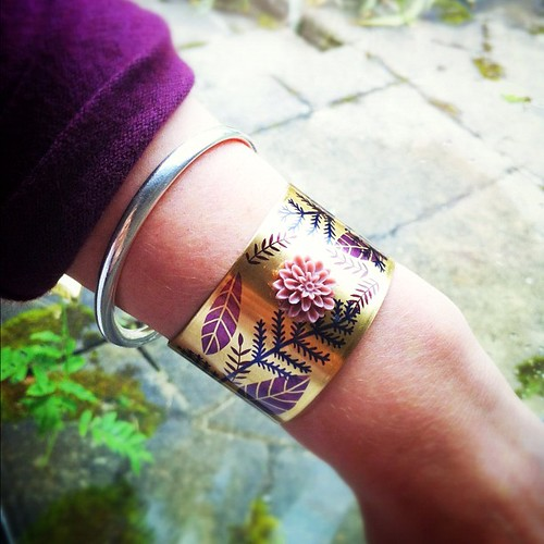 Purple Cuff with a Purple Sleeve