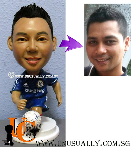Fully Customized 3D Chelsea Fan Soccer Figurine - © www.unusually.com.sg