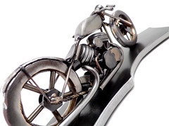 Metal Panhead Motorcycle Sculpture