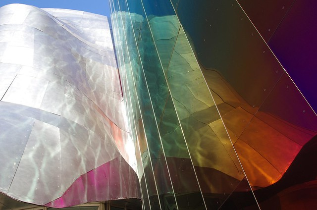 Rainbow Reflection - Experience Music Project (EMP) Seattle Museum of Music + Sci-fi + Pop Culture