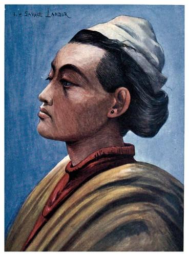 016-Tipico nativo del Nepal-Tibet & Nepal-1905-A. H. Savage-Landor